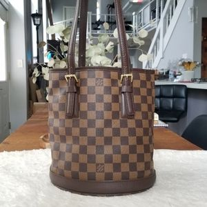 💕RARE Authentic LV Bucket PM Damier Ebene